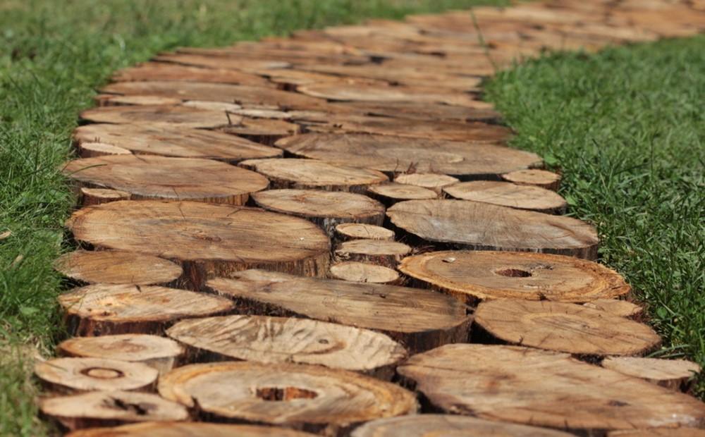 Дорожки из дерева как сделать